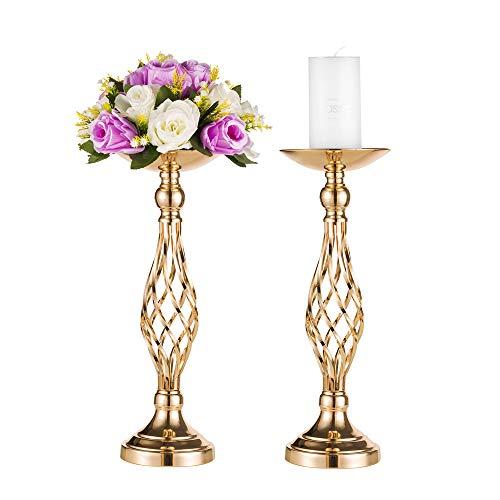 Accesorios de boda / fiesta, jarrón de oro para mesa, candelabro columnario de hierro, pérgola floral de mesa principal / recepción