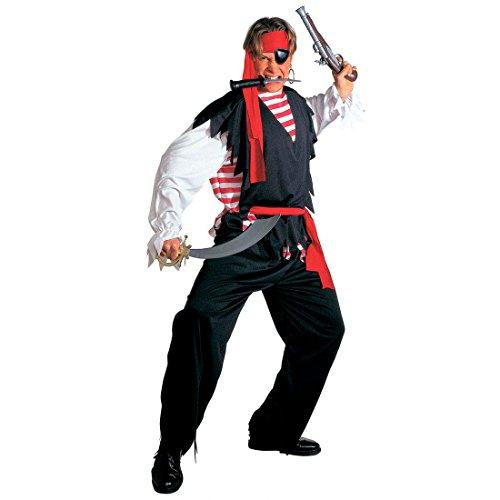 Piraten Kostüm Freibeuter Piratenkostüm Herren XL (54) Pirat Faschingskostüm Fasching Seeräuber Karnevalskostüm Piratenparty Herrenkostüm Karibik Mottoparty Verkleidung Karneval Kostüme - Freibeuter Kostüm Herren