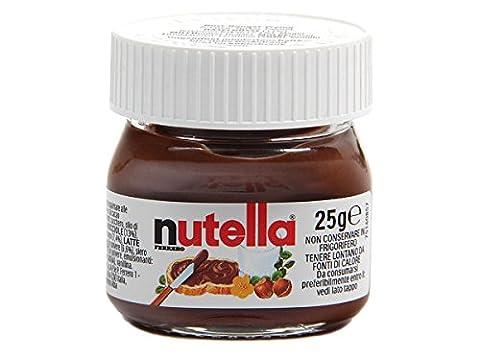 Nutella Mini Glas Ferrero Brotaufstrich Minigläser klein Schokolade 25 g kleine Packung (Nutella Ferrero)