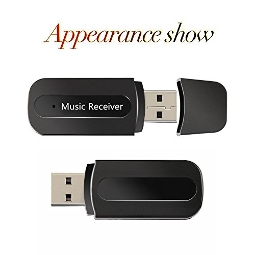 USB Bluetooth Music Empfänger Receiver Adapter, 3.5mm Stereo Audio Music Speaker Receiver Car Hands-Free Portable Mini USB Wireless Receiver