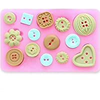 lllzz botón fondant cake chocolate resina arcilla silicona para piruletas de Candy, L10 m *