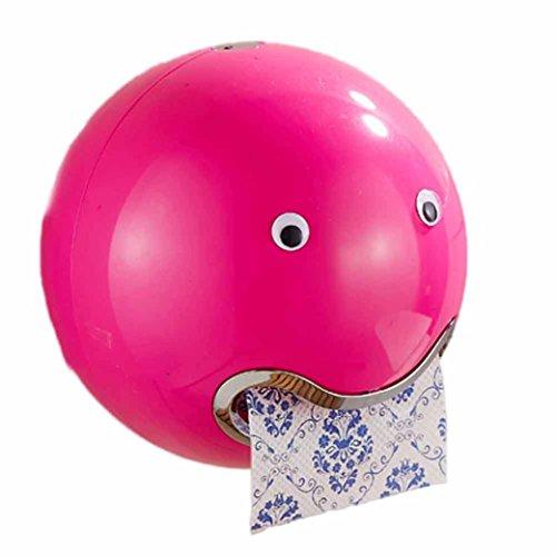 HKFV Ball Shaped Nette Emoji Bad Wc Wasserdichte Toilettenpapier Box Rolle Sauger Toilettenpapier Box Schublade Gewebebox Halter Spitze Toilettenpapierbox (Hot Pink)