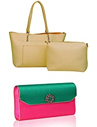 Combo Of-Handbag With Pouch & Clutch