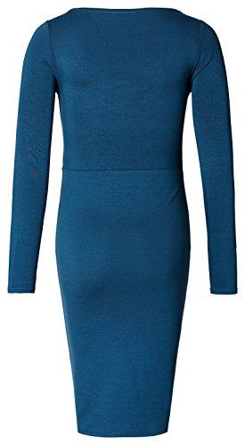 Noppies Damen Umstandskleid Dress Nurs Ls Laila Blau (Dark Petrol C161)