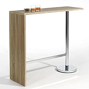 Table haute de bar ricardo d cor ch ne sonoma - Amazon table de bar ...