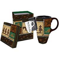 Western,Boxed Latte Travel Mug 17oz,Ceramic,6x5.25x3.5 Inches by Ashley