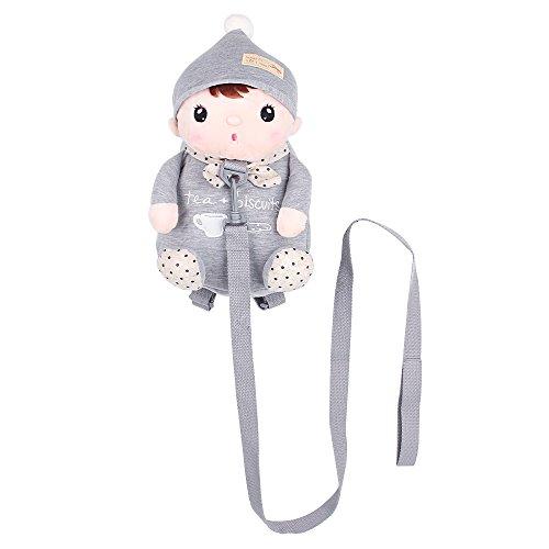 Imagen de arnés de seguridad , belk [ligero de viaje] 2en 1animal de peluche & de sujeción para bolsa con correa desmontable, [anti perdido] bebé niño niña guardería  verde gris