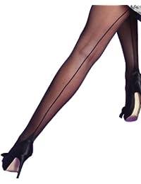 Camille - Collants Scarlet avec couture apparente - femme - noir - taille M