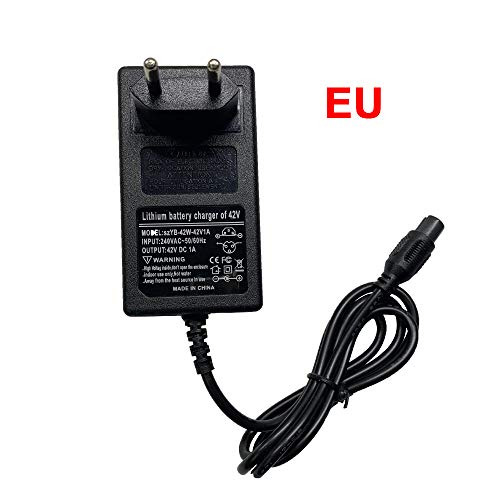 aaerp Electric Scooter Battery Charger 42V 1A-Mobility Scooter Battery Charger for Xiaomi EU Plug