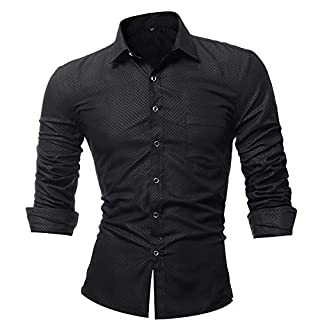 Men Long Sleeve Tops HEHEM Personality Men's Lattice Casual Slim Long Sleeve Printed Shirt T-Shirt Top Blouse Shirt Top Long Sleeve Shirts T-Shirt Polo Shirts Polo Sweatshirt