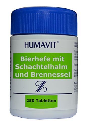 Bierhefe mit Schachtelhalm und Brennnessel, 250 Tabletten, Akne behandlung, Pickelentferner von innen, bei Hautbeschädigungen- und Unreinheiten, stärken Haare und Nägel, Haut, Nerven, optimieren Stoffwechsel, bei Akne sehr effektiv mit Stiefmütterchen und Brennnessel Kapseln