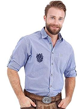 Michaelax-Fashion-Trade Krüger - Herren Trachtenhemd in Blau, Himmelsgucker (91109-8)