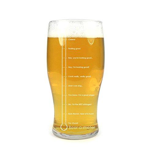 Arcoroc Ursprüngliche BierGlas / Gläser / Barbedarf/ Pint Glas : Beer-O-Meter 20oz / 568ml
