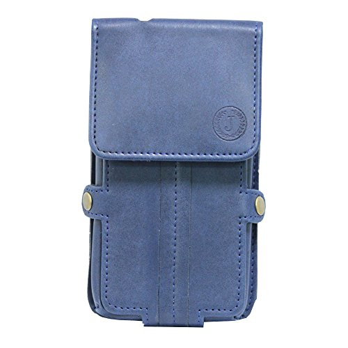 Jo Jo A6 Nillofer Series Leather Pouch Holster Case For HTC Desire 600c Dual Sim Dark Blue