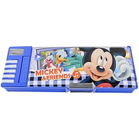Disney linda Mickey Mouse Multi-Funcional Caja de lápiz / lápiz-cuadro 83018-07 (Azul)