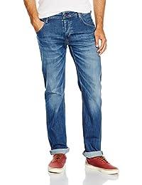 Mustang Michigan Straight, Jeans Homme, Heritage Flat Optic Stretch Denim Dark Rinse