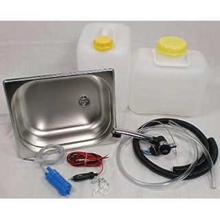 Wasseranlage Imbisswagen Verkaufsanhänger Campingküche Bausatz Spüle 325x265x65 London (ad-ideen)