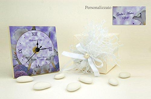 Orologio bomboniera matrimonio stile elegant personalizzati el01