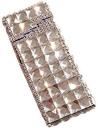 AXCJJ Estuche De Cigarrillos - Caja De Cigarrillos De Diamantes De Imitación Creativa Regalo - Caja De Bolillos Esbelta Y Automática…