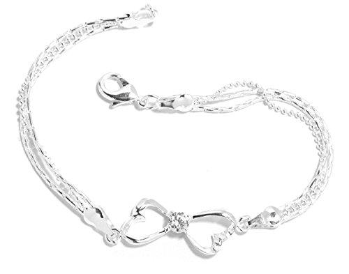 2LIVEfor Bracciale in argento con simbolo dell'infinito, da donna