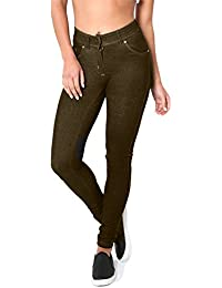 ROCKBERRY Skinny Womens Jeans Stretchy Jeggings Ladies New Fit Coloured Trousers