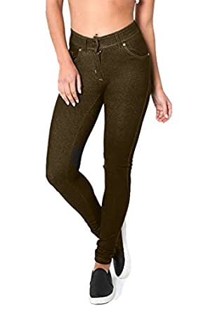 50a0f564699 ROCKBERRY Skinny Womens Jeans Stretchy Jeggings Ladies New Fit Coloured  Trousers  Amazon.co.uk  Clothing