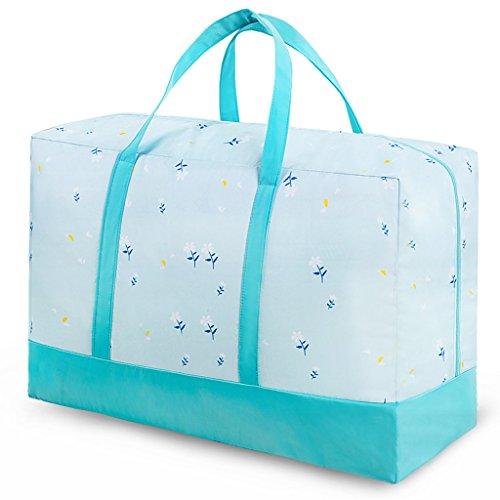 XUYAN Twill Splice Quilt Aufbewahrungstasche Portable Kleidung Spielzeug Finishing-Tasche,Green,L