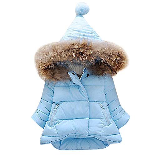 (Modaworld Kinder Baby Mädchen Jungen Winter Volltonfarbe Daunenmantel für 0-7 Jahre Outdoor Jacke mit Kapuzen Punkt Druck Warme Coat Windjacke Winterjacke Verdicken Mantel Outwear Daunenjacke)