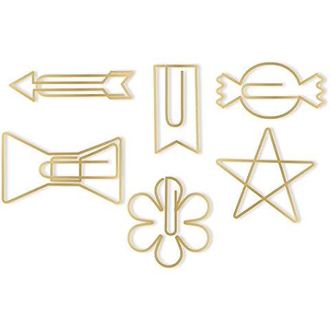 We R Memory Keepers Oh Goodie clips-gold Formas de papel decorativo, otros, multicolor