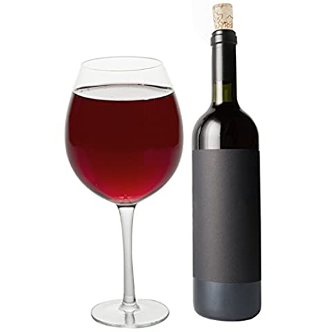 übergroßes Winglas, Extra-Großes Weinglas–750ml–so groß wie eine ganze Flasche Wein