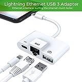 RJ45 Ethernet LAN Kabel Netzwerkadapter,Blitz zu USB Kamera Reader Adapter, Lade- und Daten Sync OTG Adapter für Phone/iPad, benötigt iOS 12.0 oder höher
