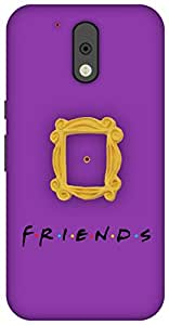 The Racoon Peek Hole Purple hard plastic printed back Case for Motorola Moto G Plus 4th Gen