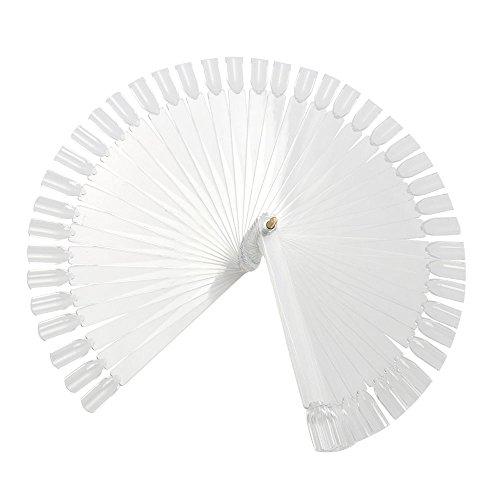 Trixes - Faux ongles de démonstration façon éventail ou pour apprentissage - Lot de 50 Blanc