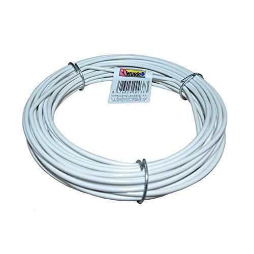 Wurko 25063 - Alambre forrado (15 m) color blanco