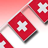 Flaggen-Girlande Schweiz 4 m
