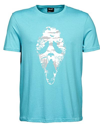 makato Herren T-Shirt Luxury Tee Reaper Scream Aqua