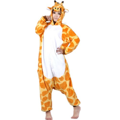 Autek New Unisexe animaux Onesie Giraffe Costume de déguisement Hoodies pyjamas sommeil Porter (PJ-20) (S, Giraffe)