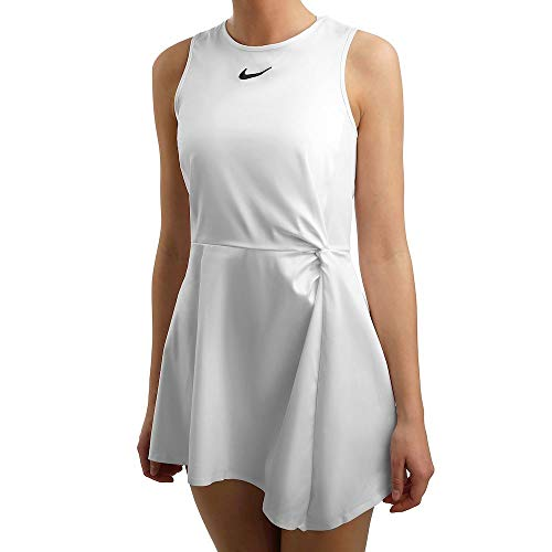 Nike Damen Maria W Nkct Dress Kleid, Weiß/Schwarz, M