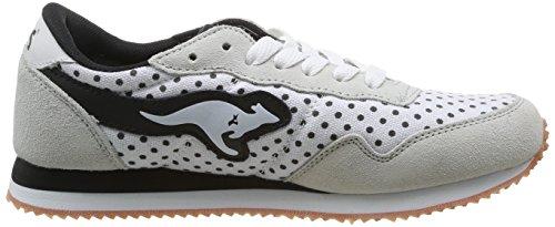 KangaROOS Invader Dots, Damen Sneakers Weiß (White 000)