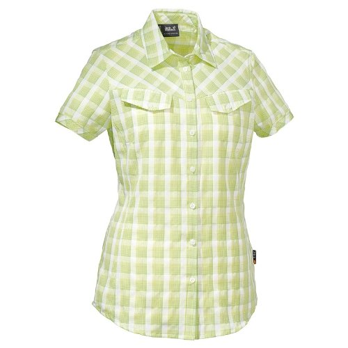 Jack Wolfskin MARA SHIRT WOMEN parrot green checks - Womens Green Check