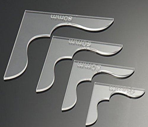 8Leder Craft Acryl Tasche Wallet Ecke Dekoration Muster DIY Schablone Werkzeug Set von Advanced Shop