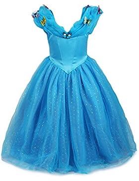 Mädchen Prinzessin Cinderella Schmetterlinge Maxi Kleid