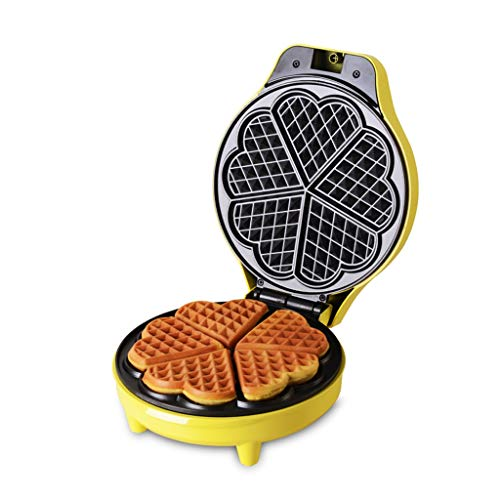 ZZ Waffle Waffeleisen , Herzförmige Waffeln Antihaftbeschichtung Doppelseitige Heizung...