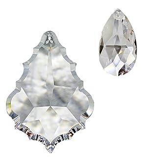 Kristall Sonnenfänger 6er Set zum aufhängen als Fensterschmuck und Raumpendel Waldorf Feng Shui Reki und Energie-Arbeit Regenbogen-kristalle Kristallglas 30% Hoch-Bleikristall Mobiles Set-B