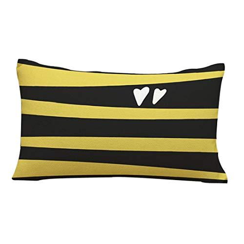 Martinad Kissenüberzug 35X50Cm Sofa Cafe Bett Home Dekoratives Kreis Musikalische Unikat Note Muster Kissenhülle Vier Jahreszeiten Sofakissen Abdeckung (A) (Color : C, Size : Size) -