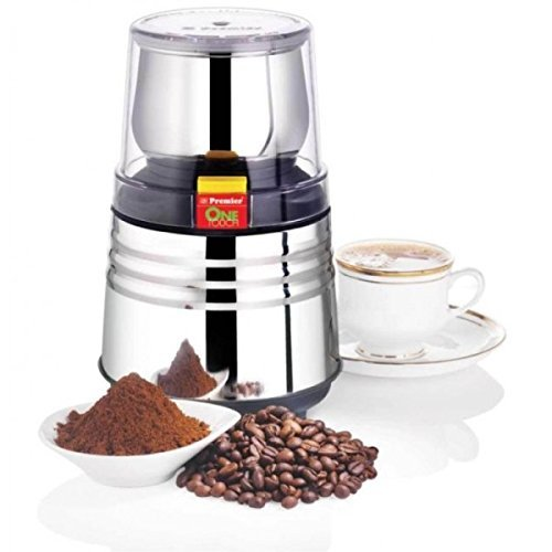 Premier One Touch Electric Wet Chutney & Dry Coffee Bean, Nut,Spice Grinder Mill by Premier Spice Mill Grinder