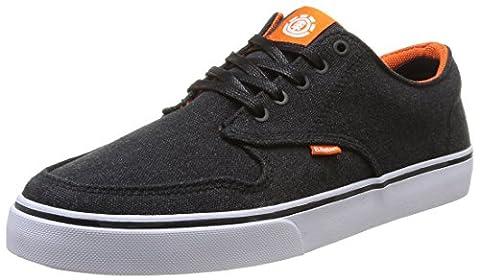 Element Topaz C3, Herren Skateboardschuhe, Schwarz (Noir/Orange), 40 EU
