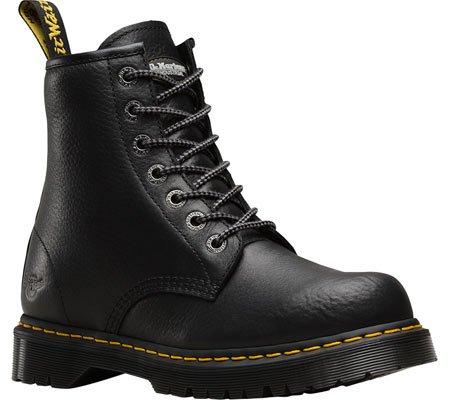 Dr. Martens Unisex 7B10 Slip Resistant NS 7 Eye Leather Boots Black