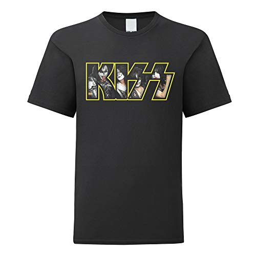 LaMAGLIERIA Camiseta niño Kiss Photo Texture - t-Shirt Kids...