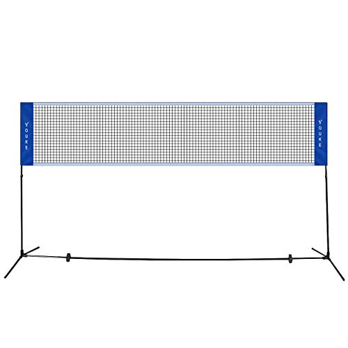 5.1M Badminton Netz Tragbares Volleyball- und Tennis- Netz mit Verstellbaren Höhen faltbares Federba YOUKE